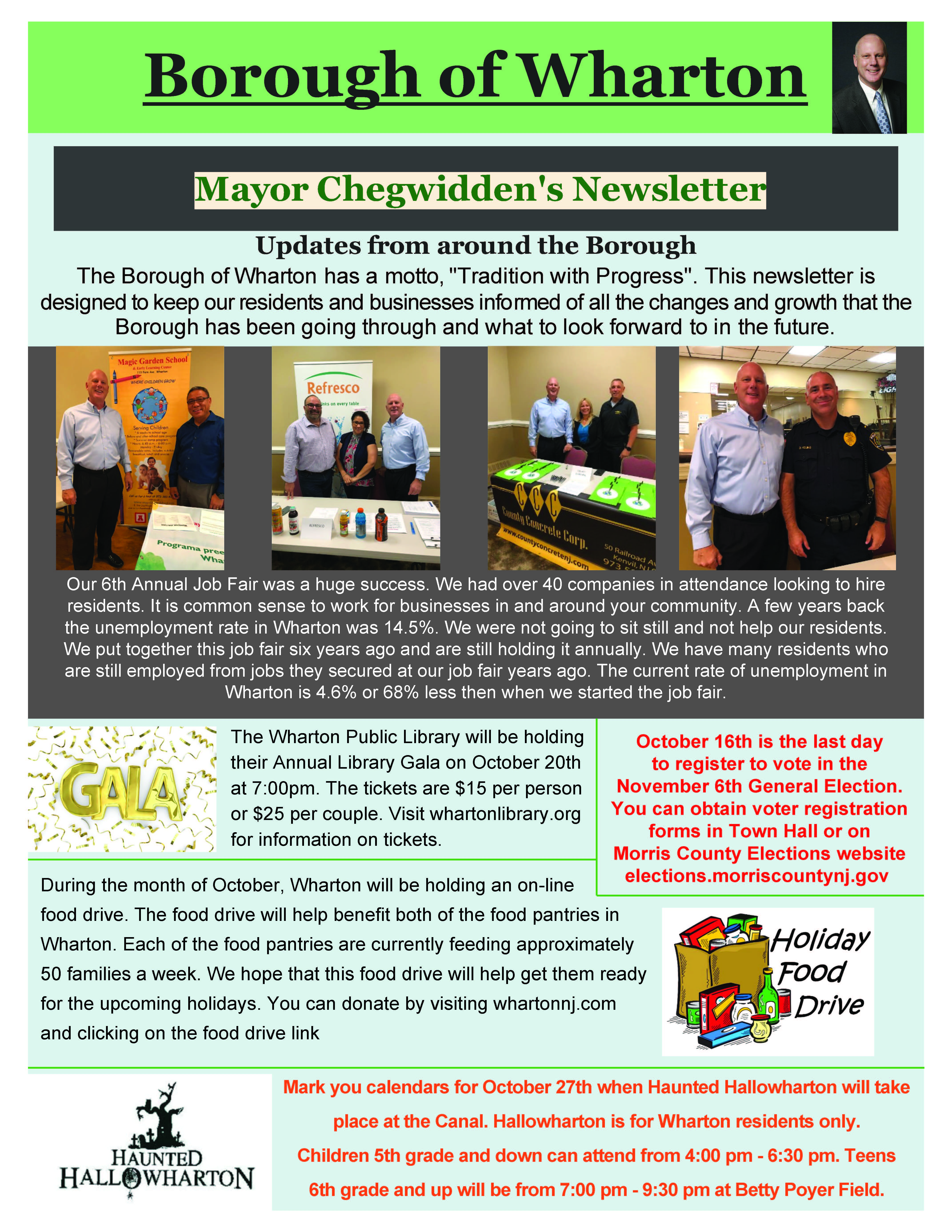 October 2018 Mayors Newsletter Page 1